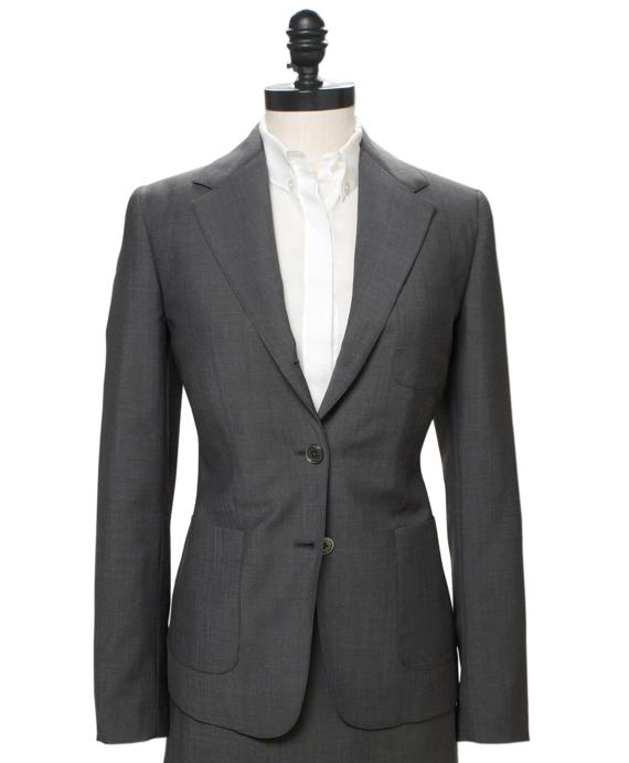 Mohair Patch Pocket Jacket Grey
