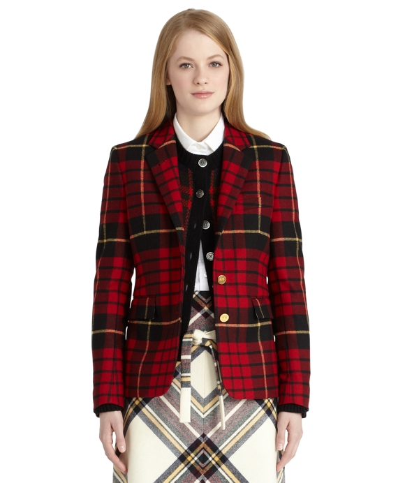 Wool Tartan Classic Jacket Red-Black