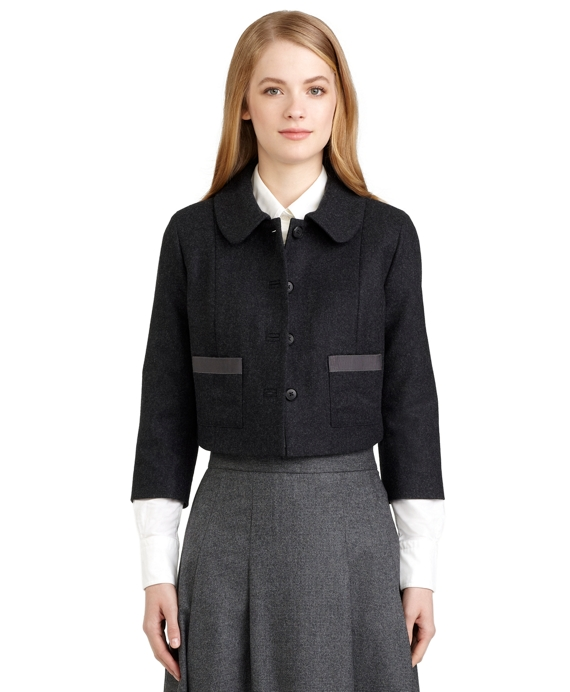 Charcoal Cropped Jacket Charcoal