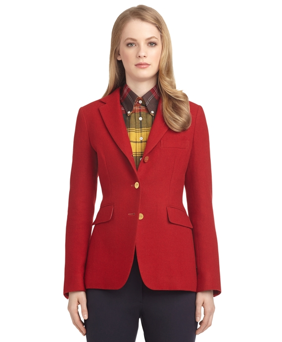 CASHMERE RIDING JACKET Red-Navy