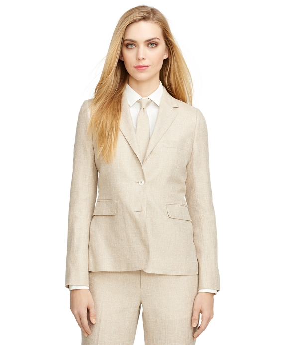 Linen and Silk Jacket Tan
