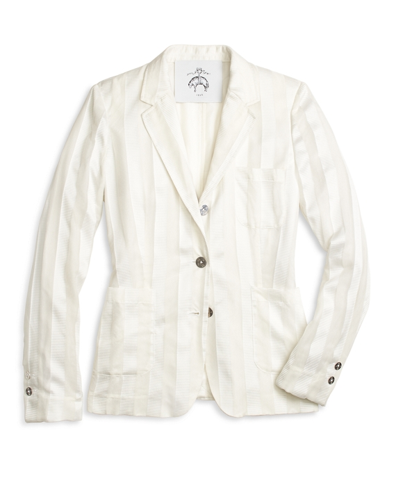 Silk Patch Pocket Jacket White