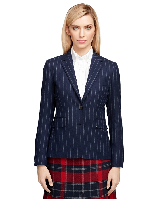 Wool Stripe Jacket Navy