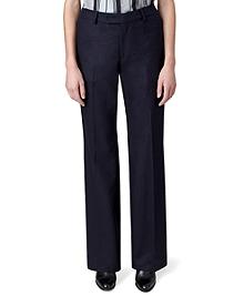 Flannel Wide Leg Trousers