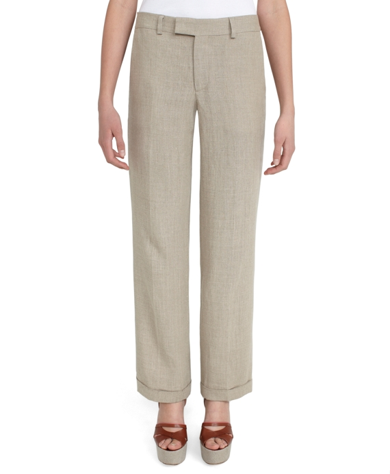Low Rise Wide Leg Trouser Natural