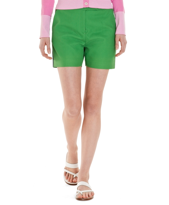 Cotton Pique Short Green