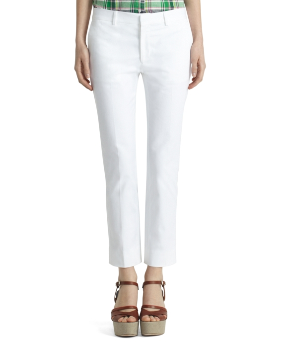 Cropped Skinny Trousers White