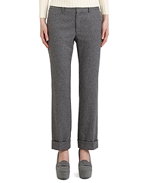 Wool Narrow Leg Trouser