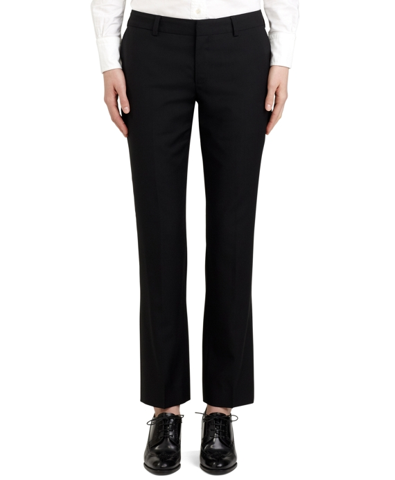 Wool Cropped Trouser Black