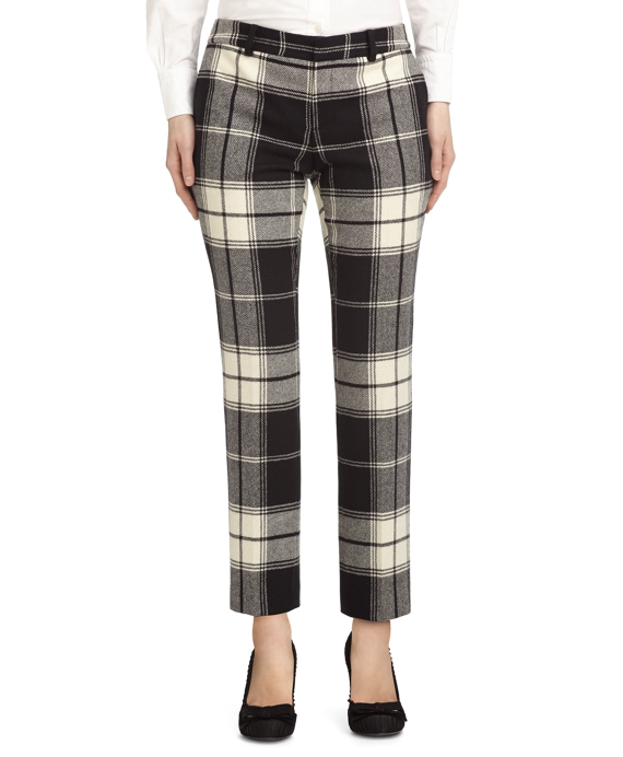 TARTAN CROPPED PANT Black-White
