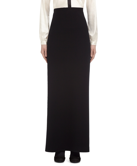 CASHMERE LONG SKIRT Black