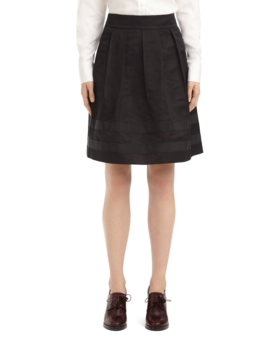 SILK FULL PLEATED SKIRT Black