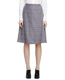 Wool Pleat Skirt
