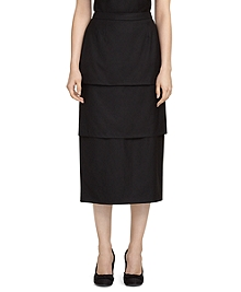 Wool Tier Skirt