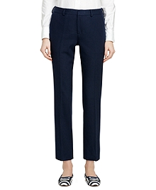 Cotton and Silk Cropped Trousers