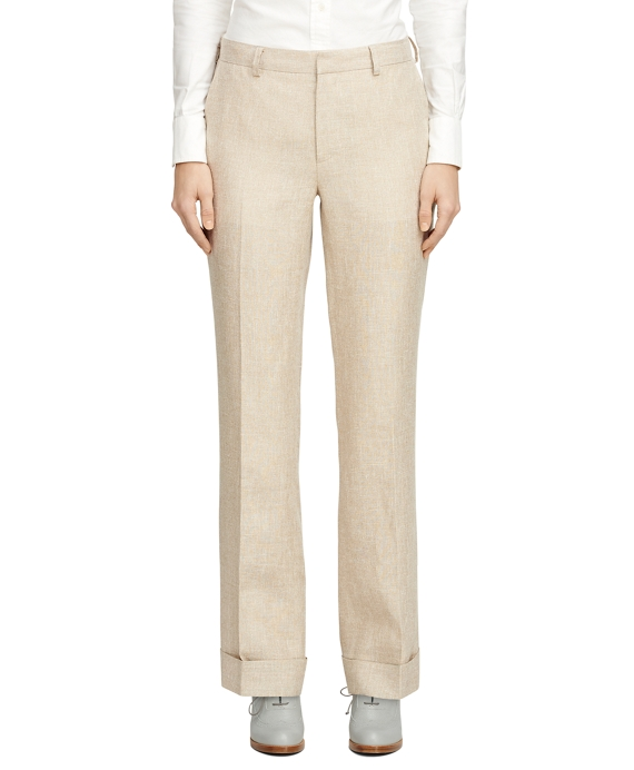 Linen and Silk Trousers Tan