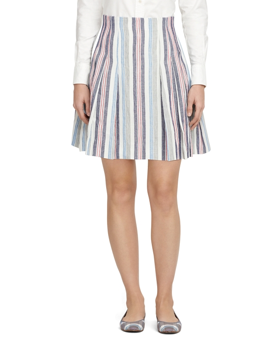 Multistripe Skirt Blue