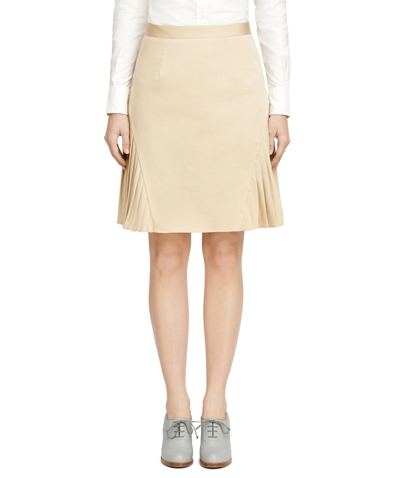 Cotton Skirt Khaki