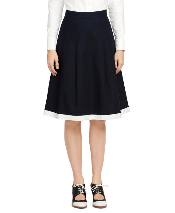 Cotton Skirt Navy