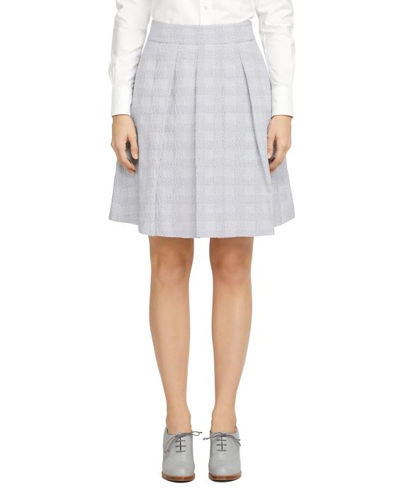 Jacquard Skirt Navy