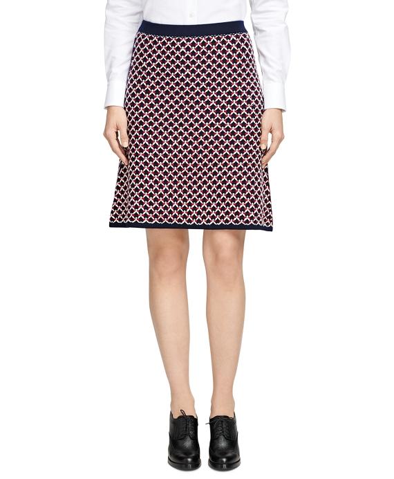 Merino Wool Reversible Skirt Navy