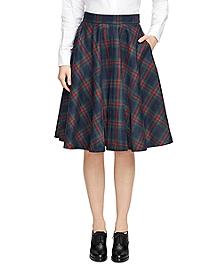 Wool Plaid Circle Skirt