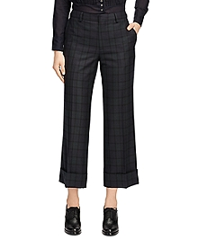 Wool Blend Wide Leg Trousers