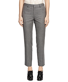 Wool Stripe Skinny Trousers