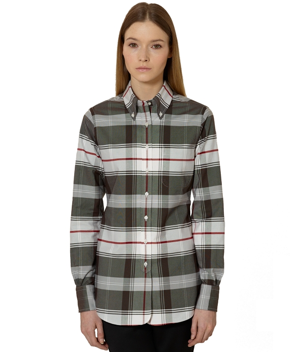 Tartan Oxford Shirt Brown