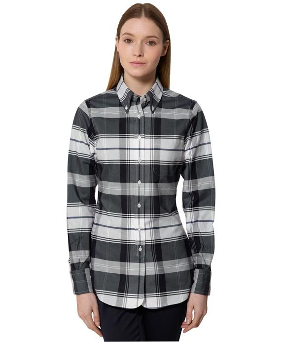 Tartan Oxford Shirt Navy