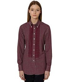 Mini Check Broadcloth Tuxedo Shirt