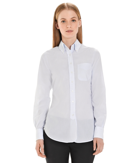 Washed Finish Button-Down Shirt Light Blue