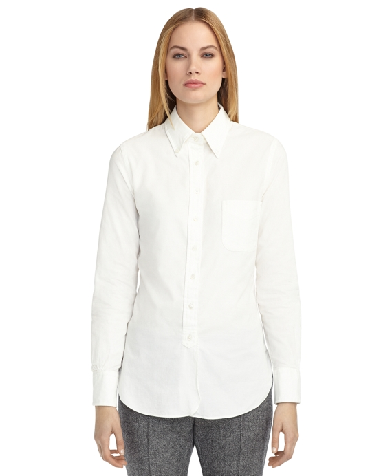 CORDUROY BUTTON-DOWN SHIRT White