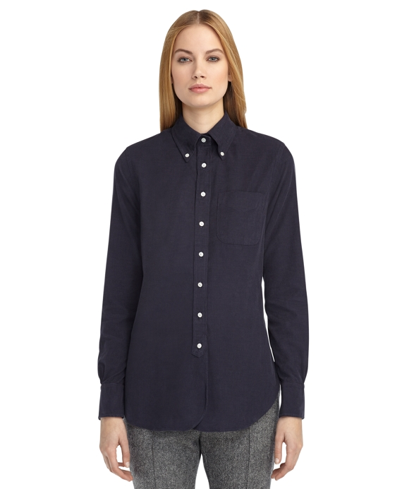 CORDUROY BUTTON-DOWN SHIRT Navy