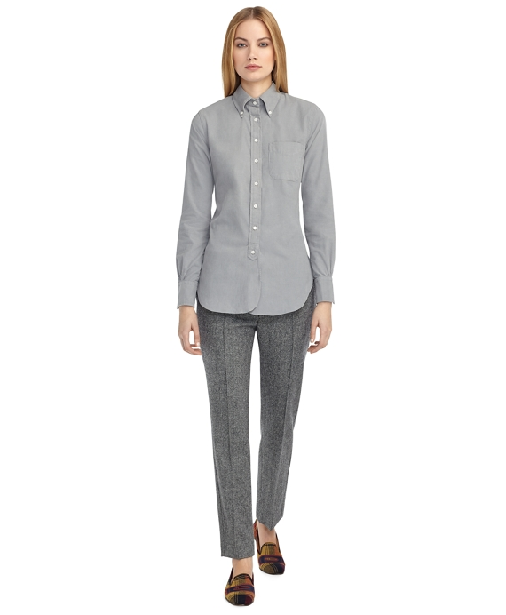 Women's Grey Corduroy Button-Down Shirt | Brooks Brothers