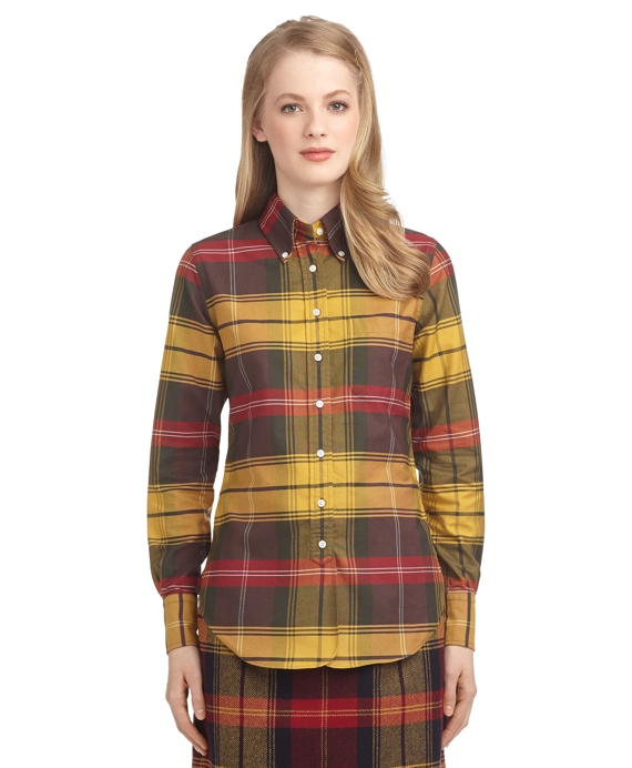 TARTAN OXFORD BUTTON-DOWN SHIRT Gold