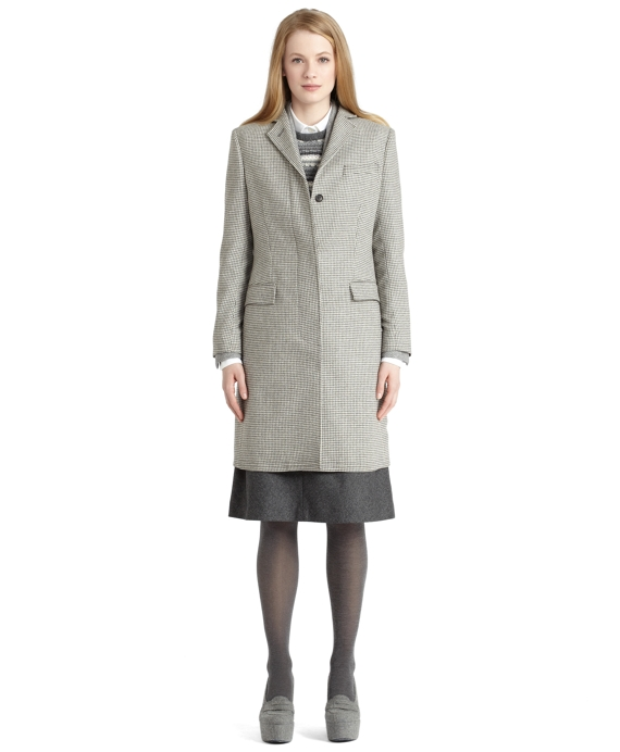 Chesterfield Coat Grey-White