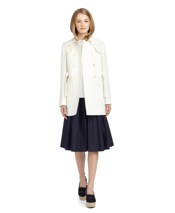 BELTED TRENCH COAT White