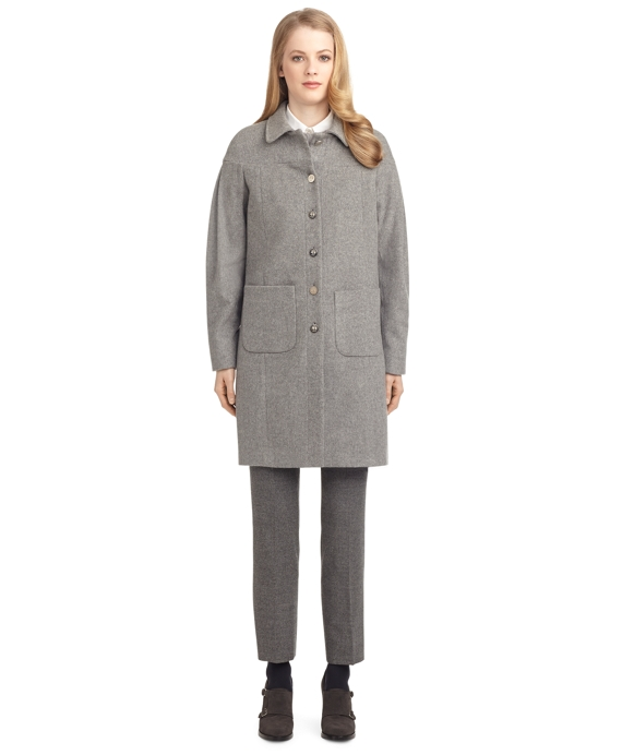 BALLOON ARM COAT Grey