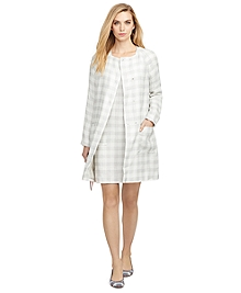 Gingham Patch Pocket Coat