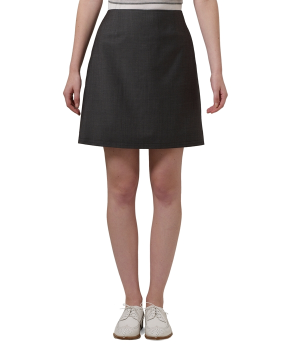 Mohair Straight Short Skirt Grey