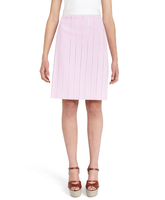 Seersucker Circle Skirt Pink