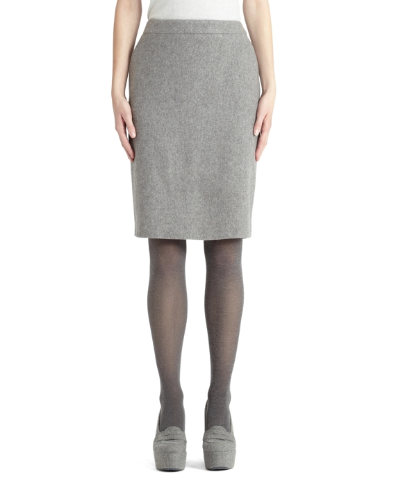 Cashmere Pencil Skirt Grey