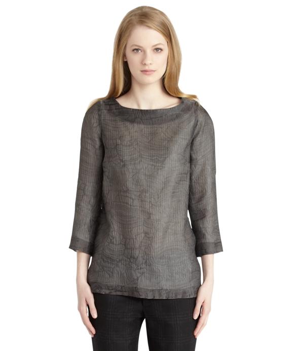 Sheer A-line Tunic Grey