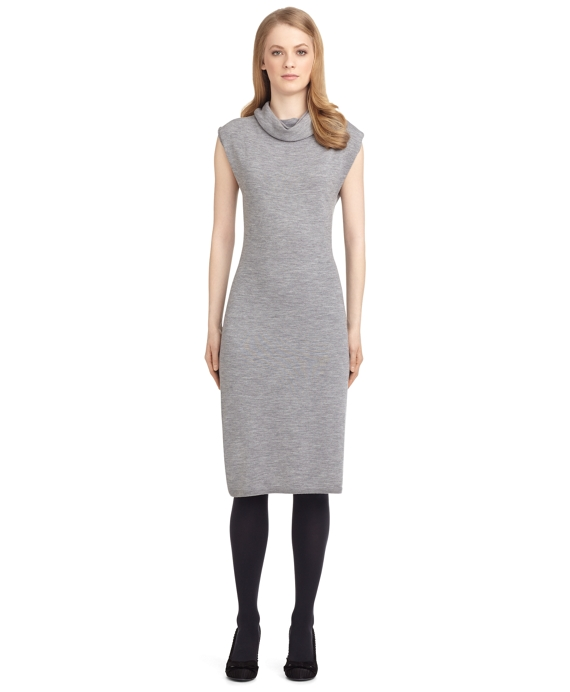 COWL NECK DRESS Grey