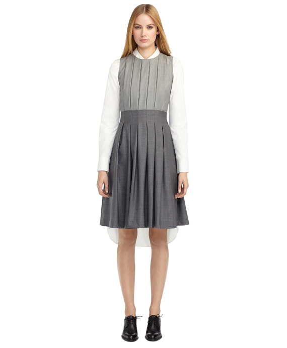 FULL SKIRT DRESS Grey