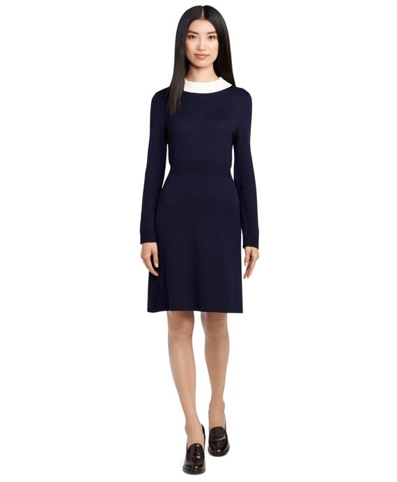 Merino Wool Dress Navy