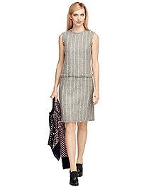 Wool Chalkstripe Dress
