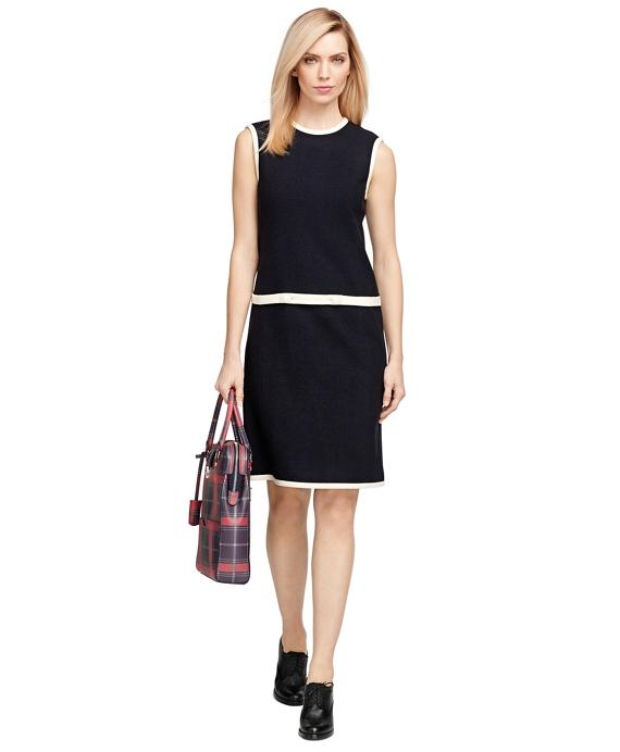 Cotton Blend Dress Navy