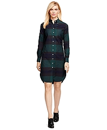 Supima® Cotton Plaid Shirtdress